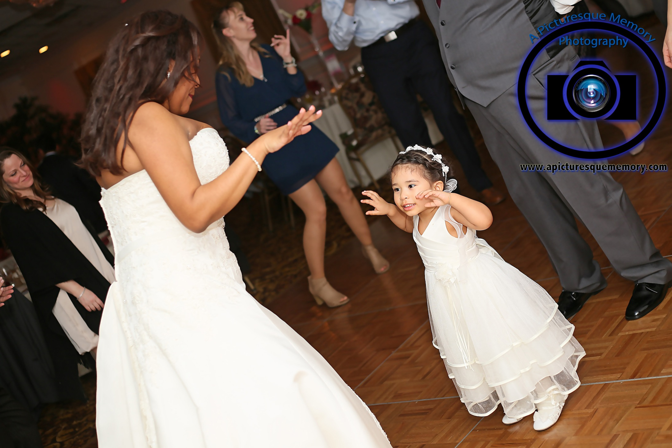 #njwedding, #njweddingphotography, #southbrunswickweddingphotographer#weddingphotos, #apicturesquememoryphotography, #pierresofsouthbrunswickweddingphotographer, #bridedancing, #flowergirl