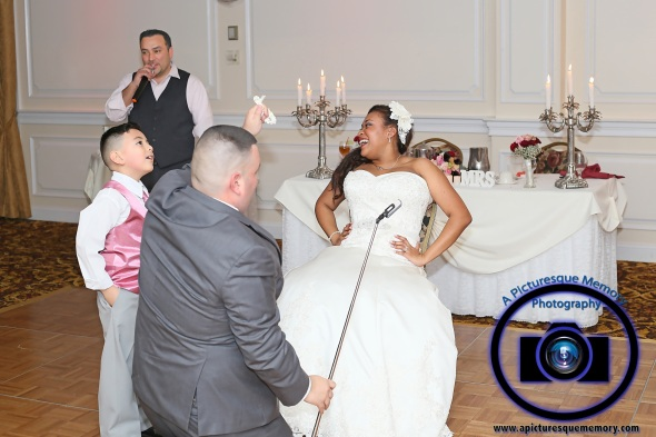#njwedding, #njweddingphotography, #southbrunswickweddingphotographer#weddingphotos, #apicturesquememoryphotography, #pierresofsouthbrunswickweddingphotographer, #garter, #brideandgroom