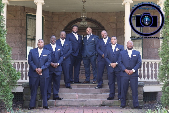 #njwedding, #njweddingphotography, #bloomfieldphotographer, #apicturesquememoryphotography, #oaksidemansionwedding, #oaksidebloomfieldculturalcenter, #weddingphotos, #groom, #groomsmen, #bestman, #greytuxedo
