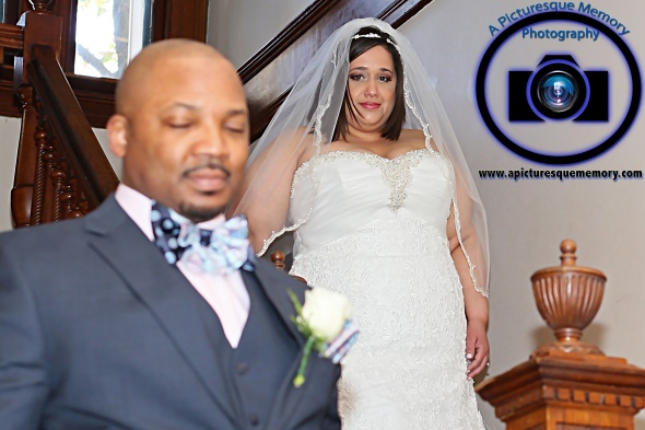 #njwedding, #njweddingphotography, #bloomfieldphotographer, #apicturesquememoryphotography, #oaksidemansionwedding, #oaksidebloomfieldculturalcenter, #weddingphotos, #brideandgroomfirstlook, #firstlookstairs