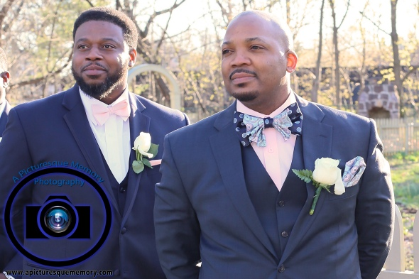 #njwedding, #njweddingphotography, #bloomfieldphotographer, #apicturesquememoryphotography, #oaksidemansionwedding, #oaksidebloomfieldculturalcenter, #weddingphotos, #groom, #bestman, #outsideceremony