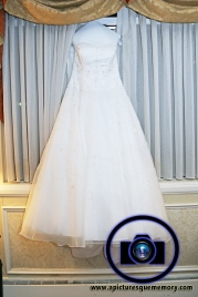 brides dress at bridgewater manor wedding photos by NJ wedding photographer apicturesquememoryphotography