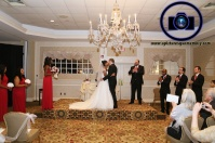 first kiss at bridgewater manor wedding photos by NJ wedding photographer apicturesquememoryphotography