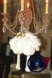 winter wedding decor at bridgewater manor wedding photos by NJ wedding photographer apicturesquememoryphotography