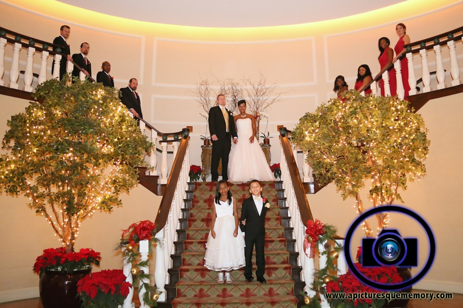bridal party at bridgewater manor wedding photos by NJ wedding photographer apicturesquememoryphotography