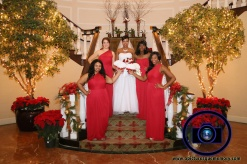 nj bride with bridesmaids at bridgewater manor wedding photos by NJ wedding photographer apicturesquememoryphotography