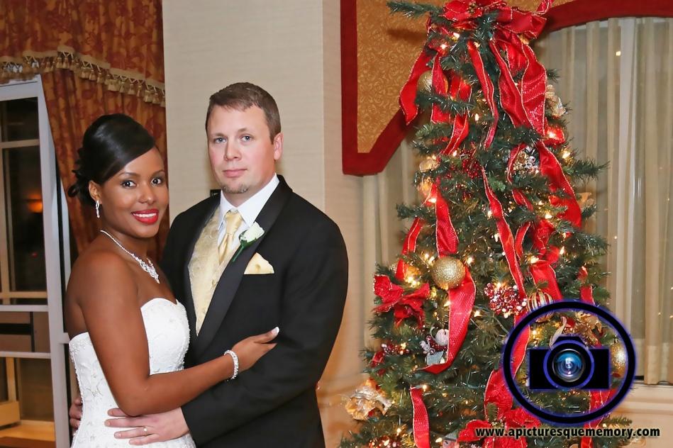 christmas wedding at bridgewater manor wedding photos by NJ wedding photographer apicturesquememoryphotography